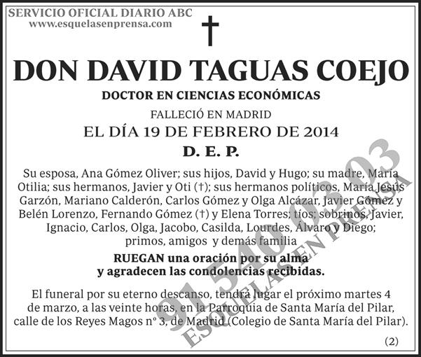 David Taguas Coejo | Esquelas en ABC